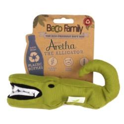 Beco speelgoeddier - Aretha de alligator - groen