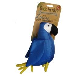 Beco speelgoeddier - Lucy de papegaai - blauw