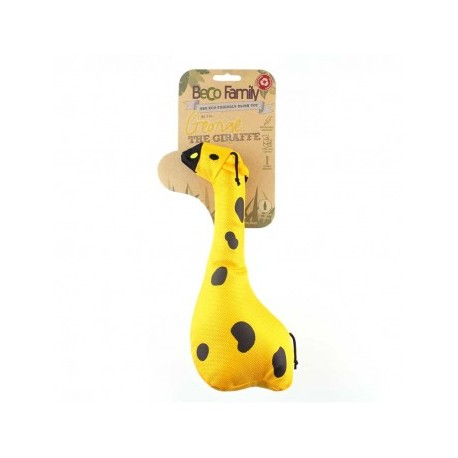 Beco speelgoeddier - George de giraffe - geel